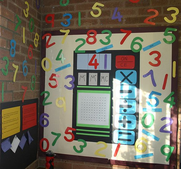 Interactive Maths Display with differentiated maths questions for early finishers
