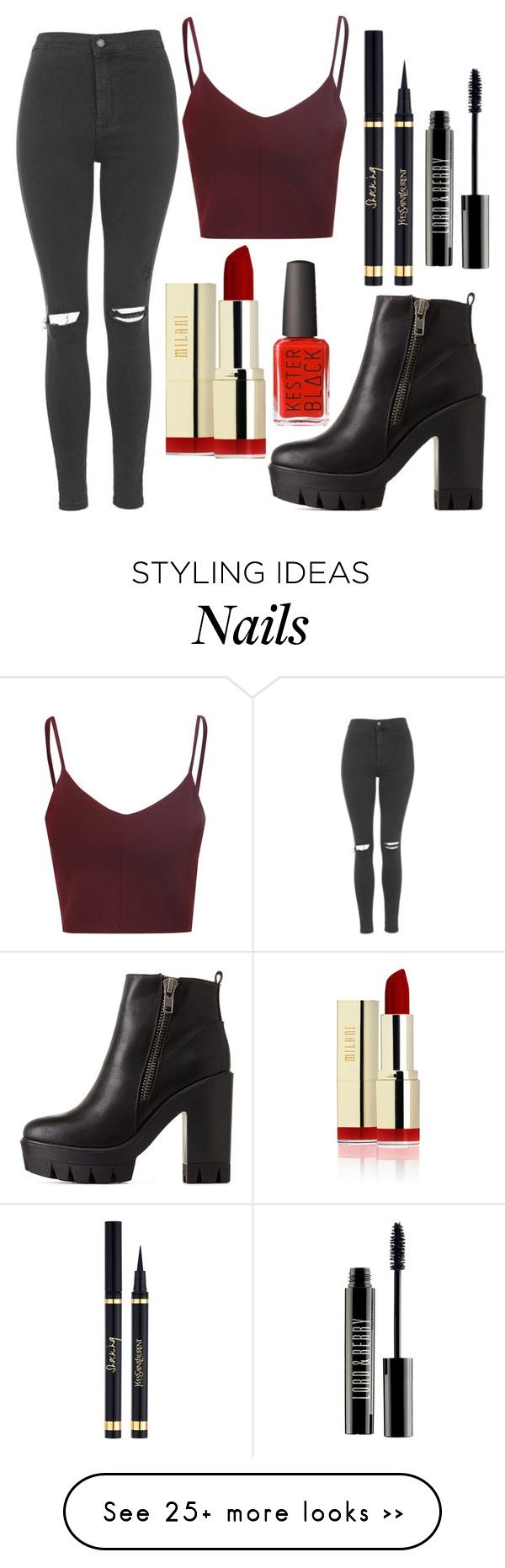 """Untitled #41"" by megana-syrett on Polyvore featuring Charlotte Russe, Topshop, Glamorous and Lord & Berry"