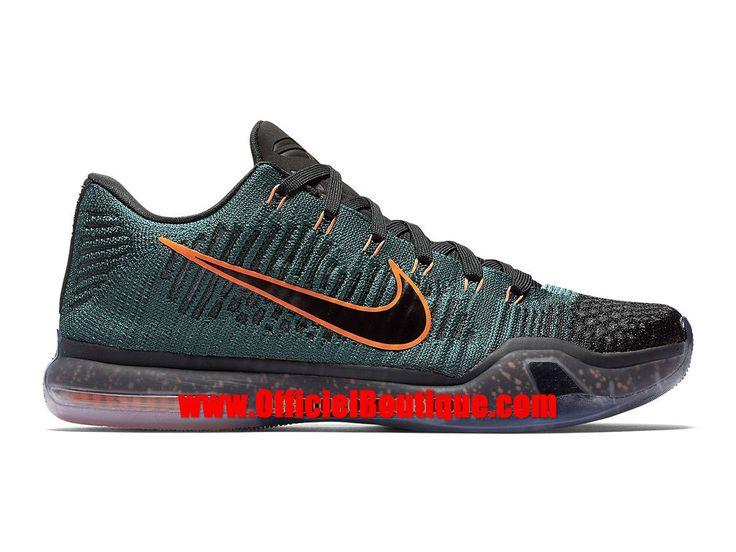 Chaussure Nike Baskets Pas Cher Pour Homme Nike Kobe X/10 Elite Low Noir/