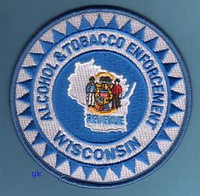 WISCONSIN ALCOHOL TOBACCO ENFORCEMENT POLICE SHOULDER PATCH