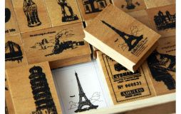 """""""A Life"""" wooden boxed stamp set"""