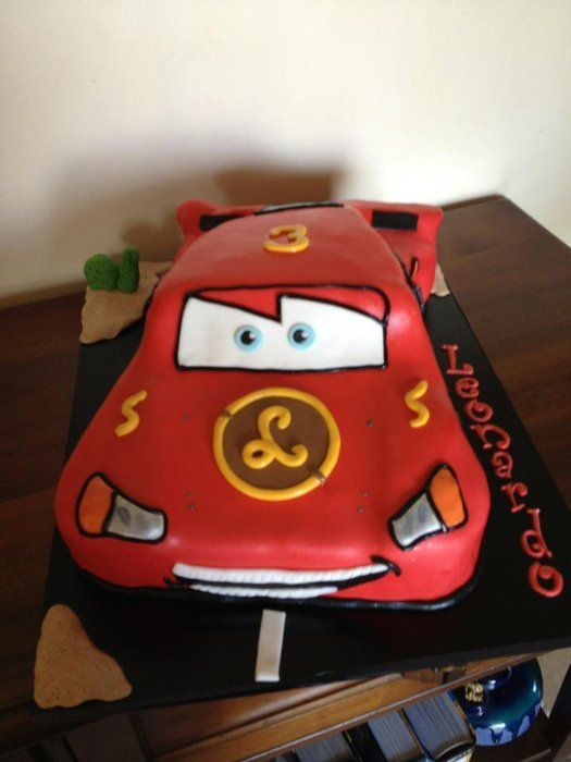 Saetta Mc Queen Cars - by NataliaPicci @ CakesDecor.com - cake decorating website