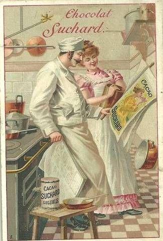 Chocolate Suchard vintage advertisement