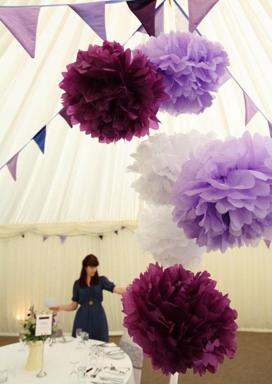 160 best pom poms deco inspiration images on pinterest fiesta reserved for stephaniepurple perfectionmix pieces purple white tissue paper pom pomslanterns weddingbirthdaynursery decor solutioingenieria Images