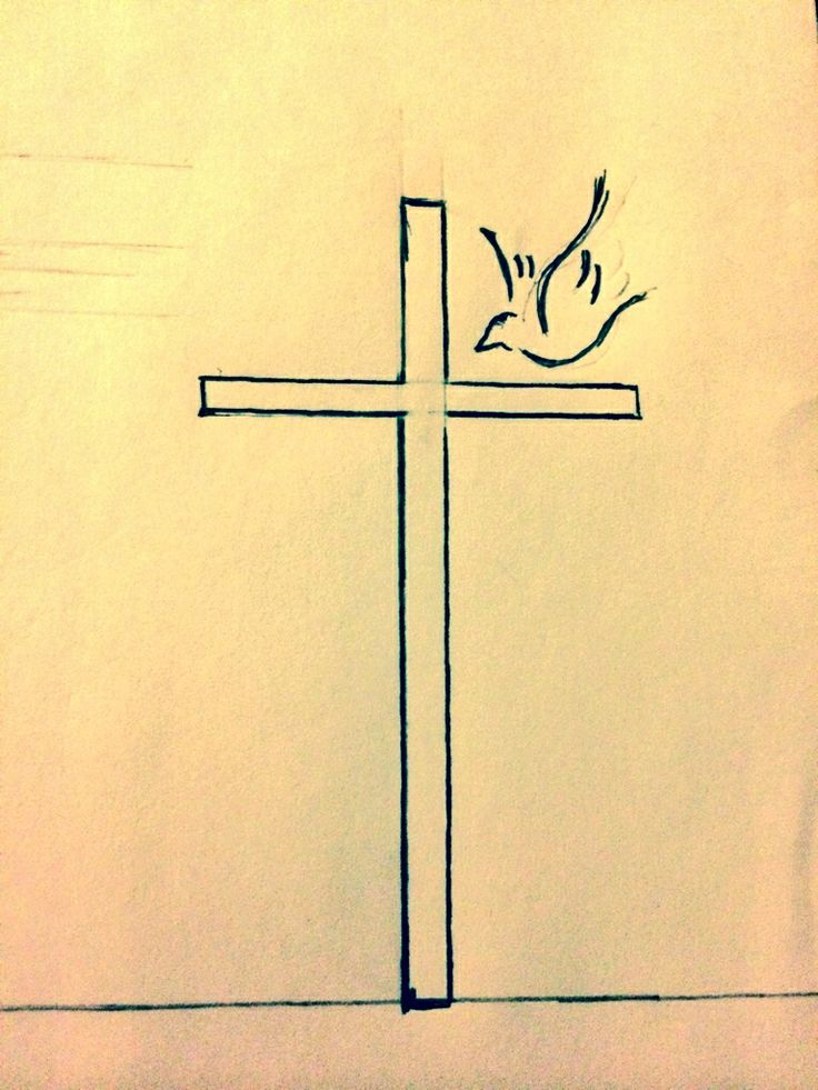 I made a sketch of what my tattoo will look like! #dove #sketch #tattoo #dovetattoo #cross #girly #faith