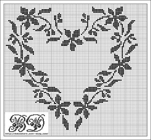 Floral heart x stitch. Need to make NOW!!!