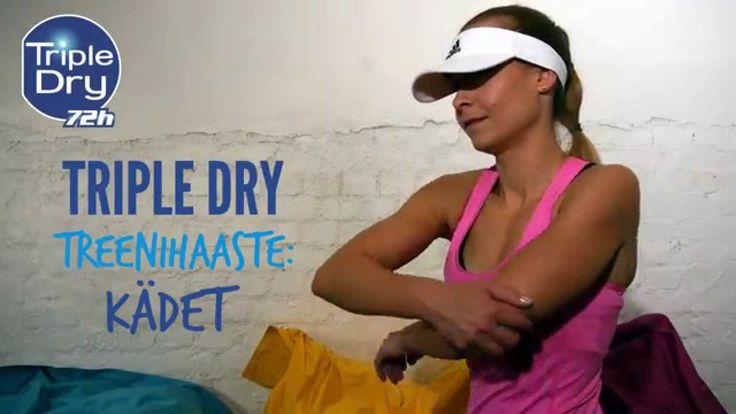 Neljän viikon Triple Dry -treenihaaste! Joka viikko kolme liikettä, nyt vuorossa kädet. Liike 1: HAUISRUTISTUS Toistot: 3 x 12 Liike 2: OJENNUS Toistot: 3 x 12 Liike 3: PYSTYPUNNERRUS Toistot: 3 x 12 Ota haaste vastaan ja pysy kanavalla! #tripledryfinland #antiperspirantti #tripledrytreenihaaste