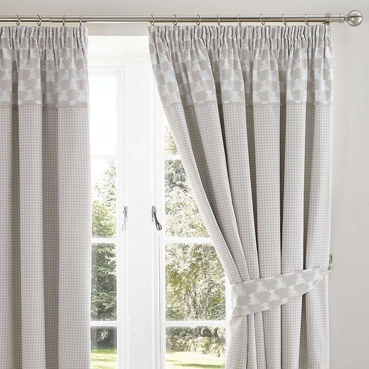 Archie Bear Nursery Blackout Pencil Pleat Curtains | Dunelm
