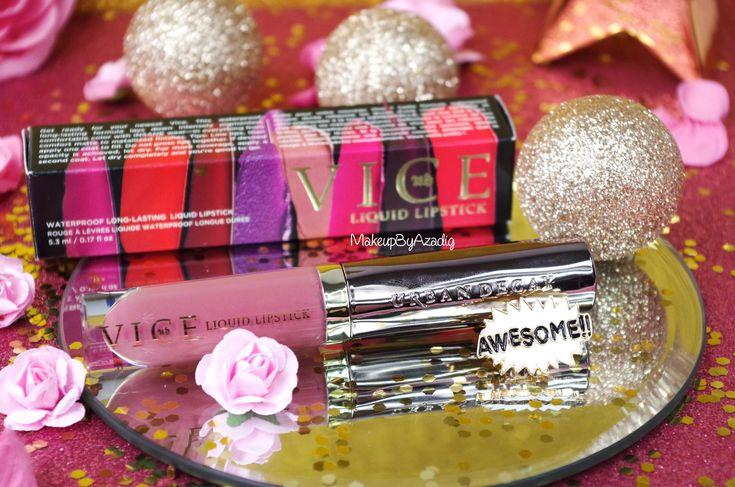 """Une revue complète sur les nouveaux rouges à lèvres liquides d'Urban Decay, les VICE Liquid Lipstick en teinte """"Backtalk"""", un vieux rose à la Kylie Jenner !"""