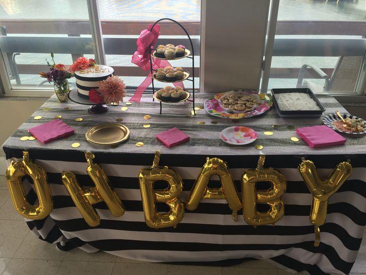 Kate Spade Baby Shower Dessert Table