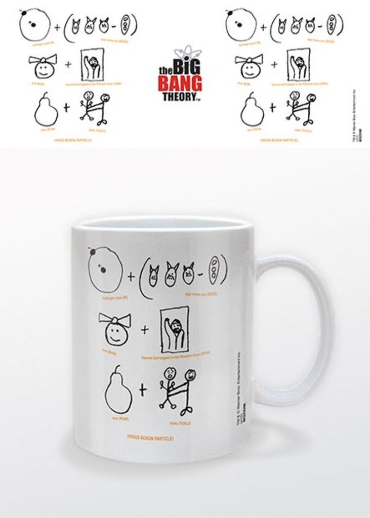 Big Bang Theory - Higgs Boson Particle - Ceramic Coffee Mug. Dishwasher and microwave safe. Capacity: ca 11oz. Official Merchandise. FREE SHIPPING
