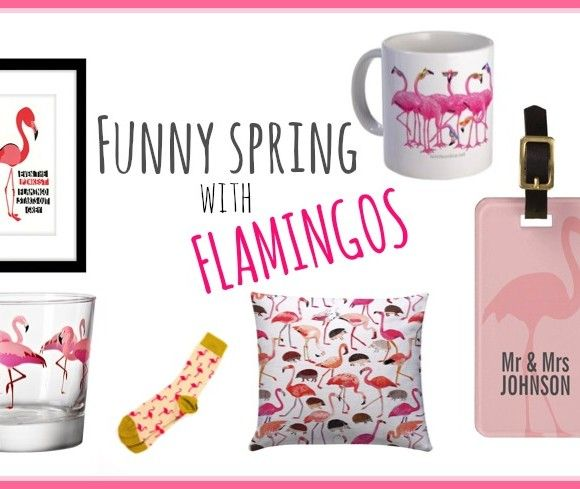 Funny Spring with flamingos #flamingos #inspiration #fashion