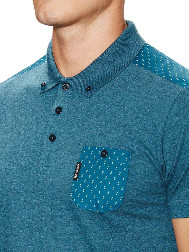 Woven Trim Polo Shirt by Ben Sherman at Gilt