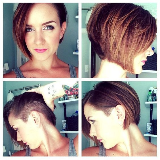 Image result for image of bob haircut with undercut