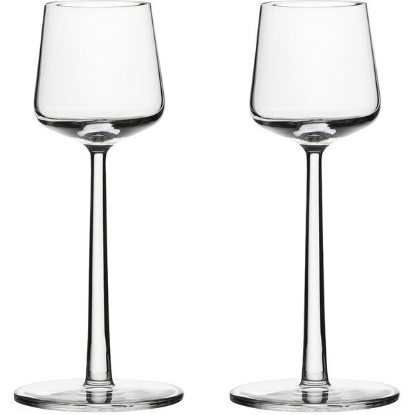 Iittala Essence Sweet Wine Glass - Set of 2 (42 CAD) ❤ liked on Polyvore featuring home, kitchen & dining, drinkware, clear, iittala, wine glass, iittala glassware, glass drinkware and glass glassware