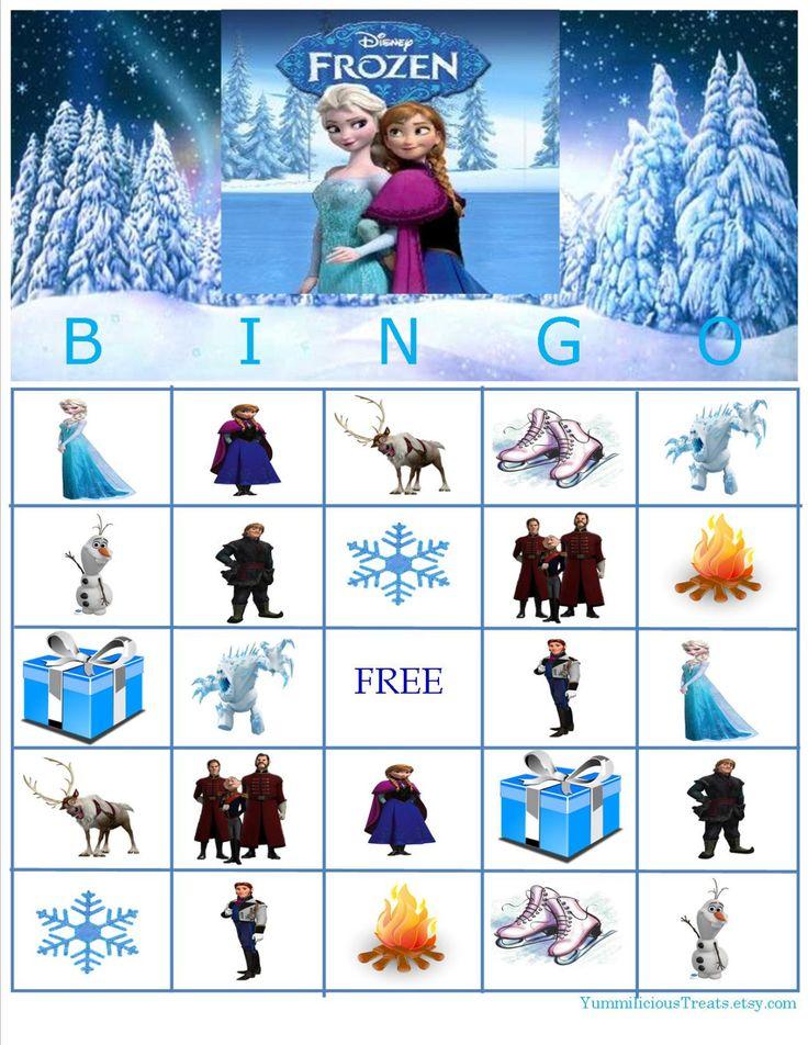 disney frozen bingo instant download by yummilicioustreats on etsy 500 - Childrens Games Free Disney