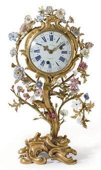 French Ormolu Porcelain Clock - 18th Century