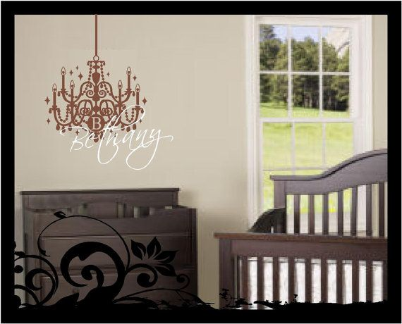 Personalized Name With Chandelier Wall Decal By Bubbaanddoodle2