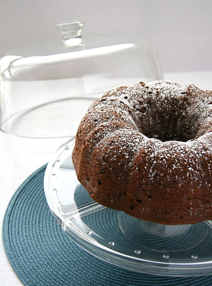 best of bridge dark chocolate cake recipe; aka 4 minute cake or triple chocolate cake, although I don't bother with the ganache