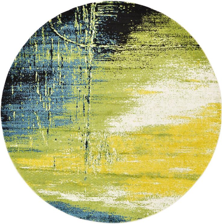 Light Green 245cm X 245cm Florence Round Rug | Area Rugs | AU Rugs