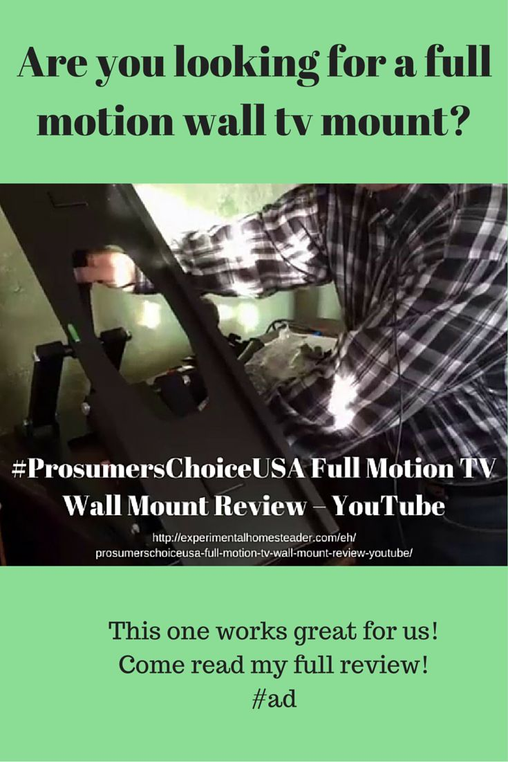 #ProsumersChoiceUSA Full Motion TV Wall Mount Review – YouTube #ad