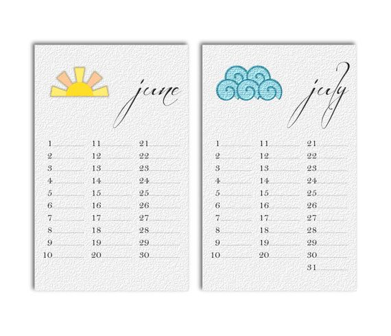 DIY Digital Printable 5x8 Monthly by BCreativeDesignArts