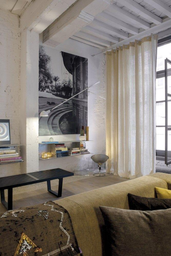 Copahome raamdecoratie. Marrakech overgordijn, gordijnen, raamdecoratie, natural, beige, neutraal/ rideau rideaux, Maroc, atmosphere, intérieur, fenêtre, décoration de fenêtre, naturel beige