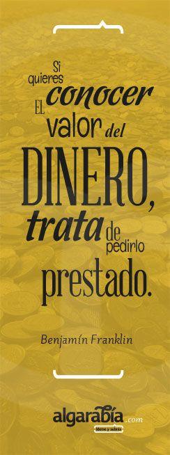 #frase #cita #quote #franklin #dinero