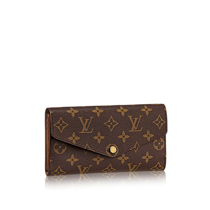 Discover Louis Vuitton Sarah Wallet: This envelope-style wallet combines an elegant exterior in Monogram canvas with an ingeniously designed interior featuring a variety of pockets and credit card slots.