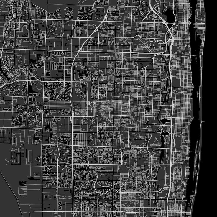 Alaska Major Cities Map%0A Greenacres downtown and surroundings Map in dark version with many details  for high zoom levels