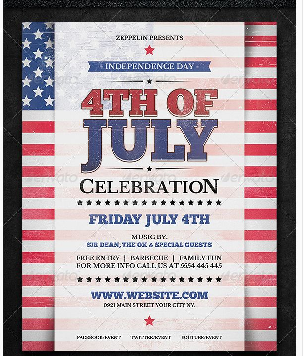 25 best July 4th Flyer Template images on Pinterest Templates - clothing drive flyer template