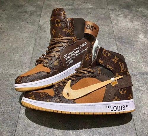 e4b9036e5e4e OFF-WHITE x Louis Vuitton x Air Jordan 1 - Shoecolla