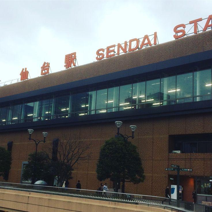 昼の仙台駅