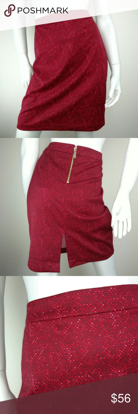 Michael Kors red snake geometric pencil skirt Brand new with $100 tags. Sizes available: 8 & 10. Gold back zipper. Small slit in the back. Absolutely right on trend and adorable. Michael Kors red snake geometric pencil skirt. Michael Kors Skirts Pencil