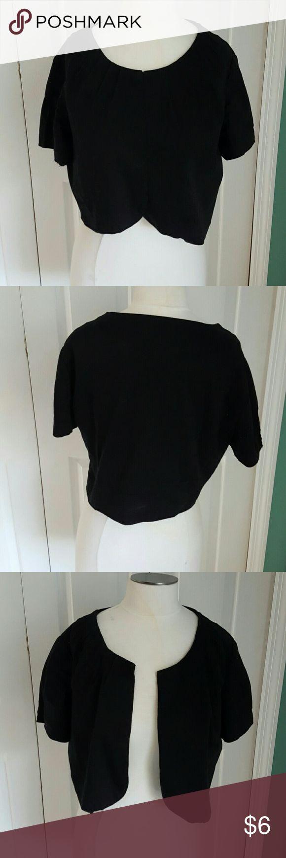 R&K Originals black Cropped jacket, size XL Black crop jacket by R&K Originals, size XL R&K Originals  Jackets & Coats
