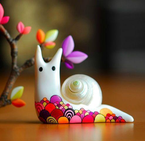 escargot en fimo: j'adore!!