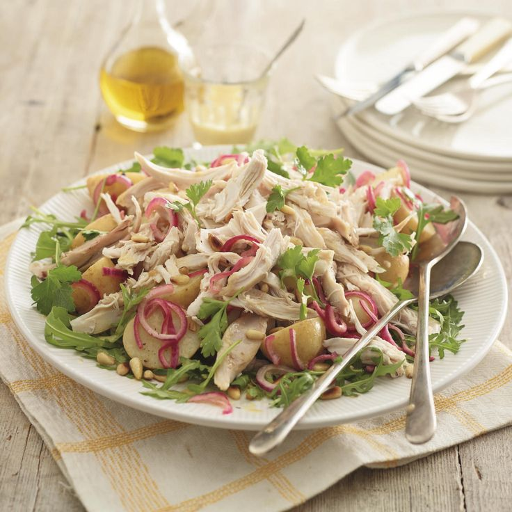 Warm Chicken and Chopin Potato Salad, a delicious recipe from the new M&S app.