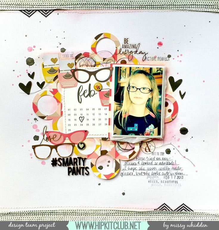 Hip Kit Club DT Project - 2016 January Hip Kits - My Mind's Eye, Heidi Swapp, Crate Paper, Basic Grey, Shimmerz