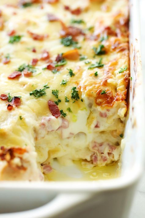This Chicken Cordon Bleu Lasagna is a creamy and delicious dinner that will become an instant family favorite! It is loaded with chicken, ham, bacon and a tasty cream cheese sauce that will blow your mind! Chicken Cordon Bleu is one of my FAVORITE meals! I love the meat and cream cheese combination. You may have …