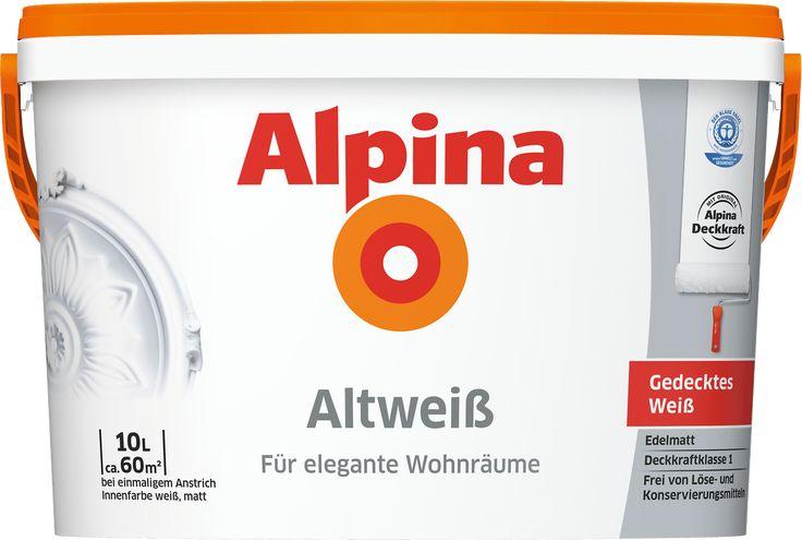 Alpina Altweiß Innenfarbe [Ausbesserung Wände]