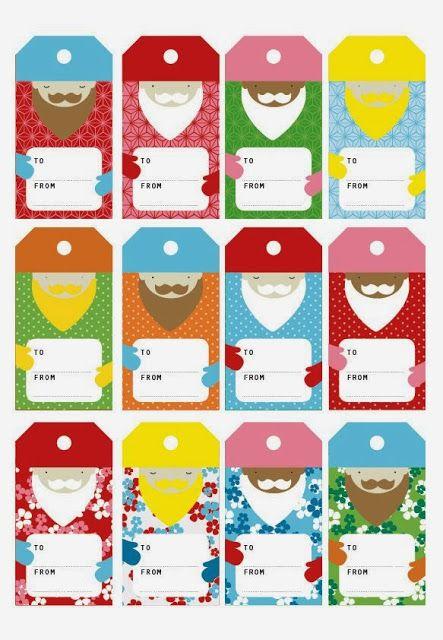 Three Kings Day / Dia de los Reyes -- free printable gift tags -- Imprimolandia: Etiquetas para los regalos de reyes     Found on imprimolandia.blogspot.com.es