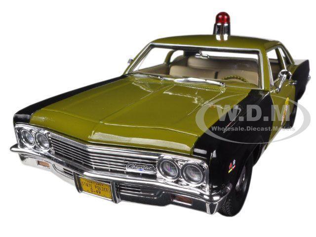 1966 CHEVROLET BISCAYNE MARYLAND STATE POLICE CAR 1/18 MODEL AUTOWORLD AMM1030 #Autoworld #Chevrolet
