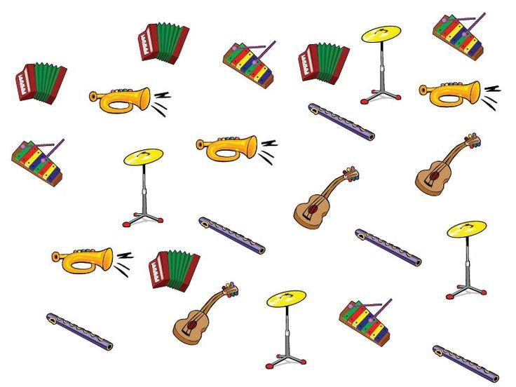Počítáme hudební nástroje – Dětské stránky
