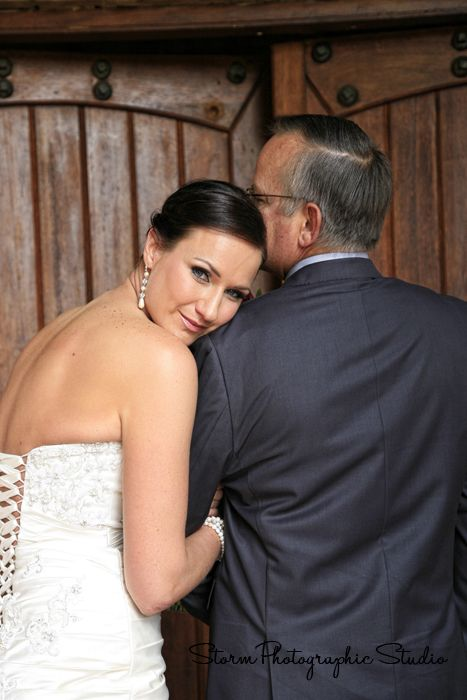 Love this photo of the bride and her father by  #Photography by #Storm Photographic Studio, Wedding Photography Gauteng.