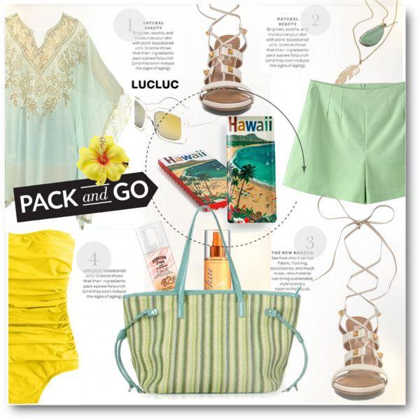 Pack and Go: Hawaii by beebeely-look on Polyvore featuring J.Crew, maurices, Hawaiian Tropic, Fekkai, Rosanna, Alice + Olivia and Martha Stewart