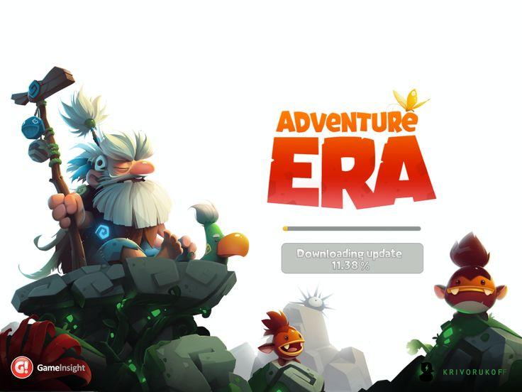 Adventure Era | Game Loading Splash | UI HUD User Interface Game Art GUI iOS Apps Games | www.girlvsgui.com