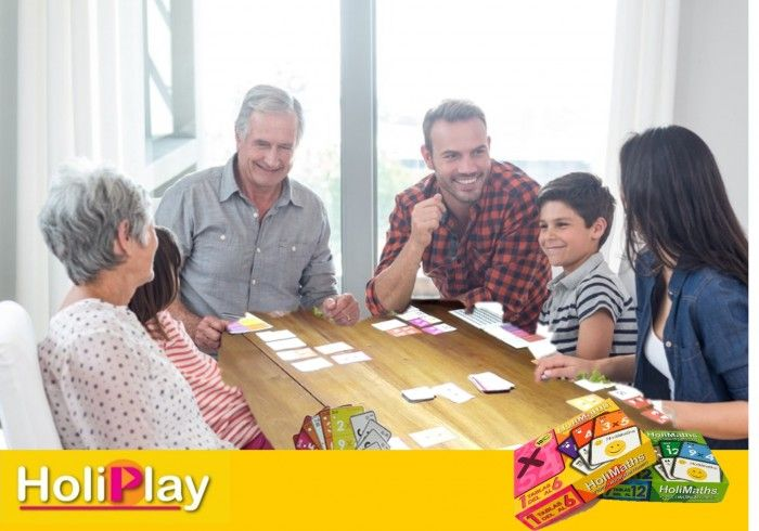 HoliMaths X - a family MULTIPLICATION STRATEGY card game | Prefundia coming soon…
