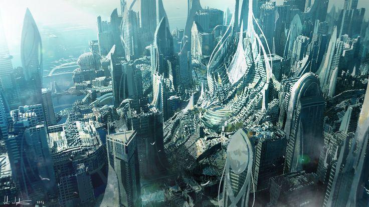 Scifi City 2 by Vablo.deviantart.com on @DeviantArt