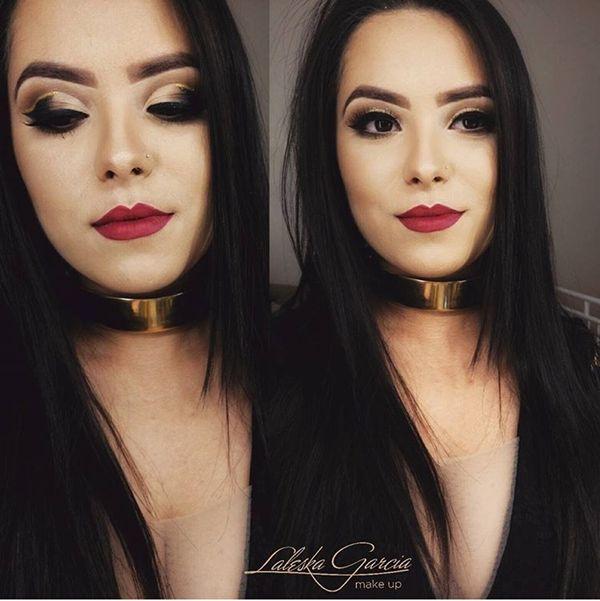 Maquiagem que combina com vestido preto