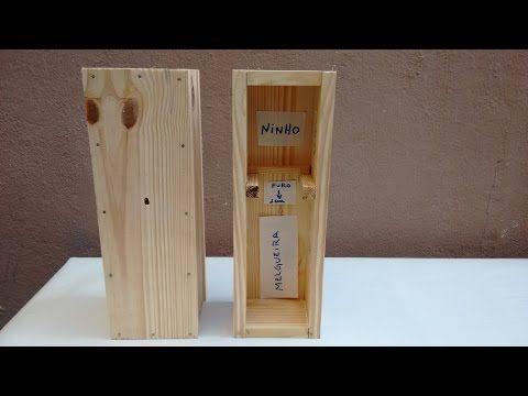 Melhor caixa para colher mel de jatai e transferência de abelha jatai da isca Pet para caixa - YouTube